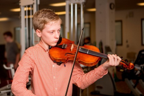 Brady Smith with his violin